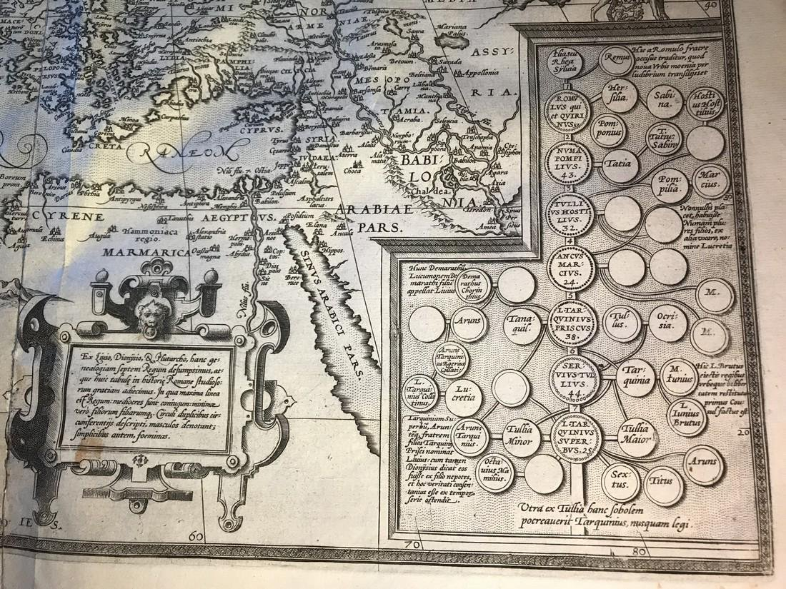 Ortelius Antique Map: Romani Imperii Imago - 3