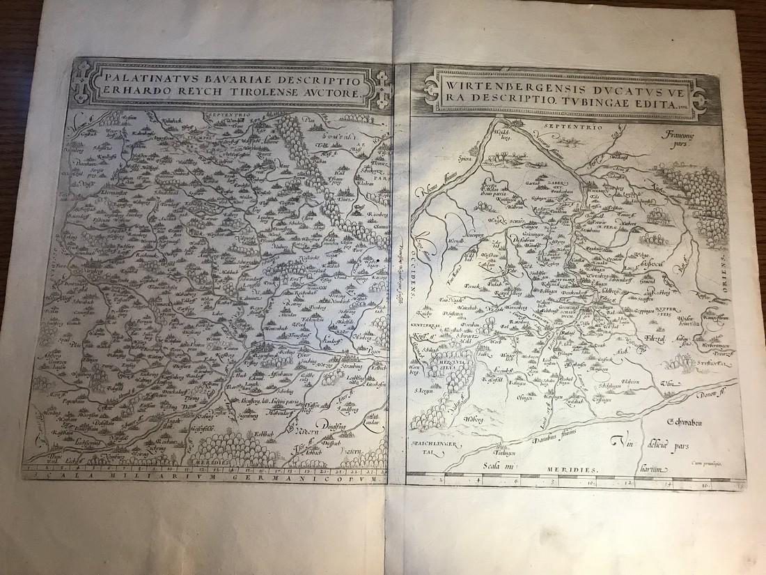 Ortelius Antique Map: Palatinatus Bavariae,