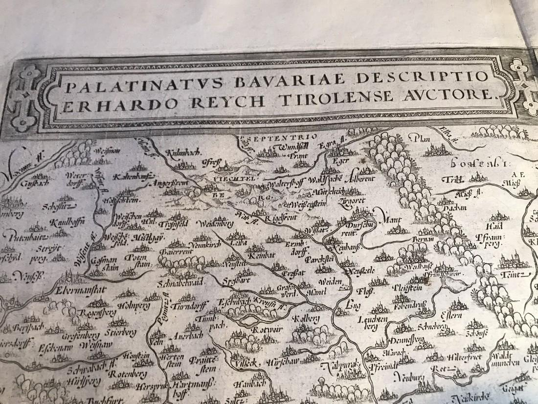 Ortelius Antique Map: Palatinatus Bavariae, - 2