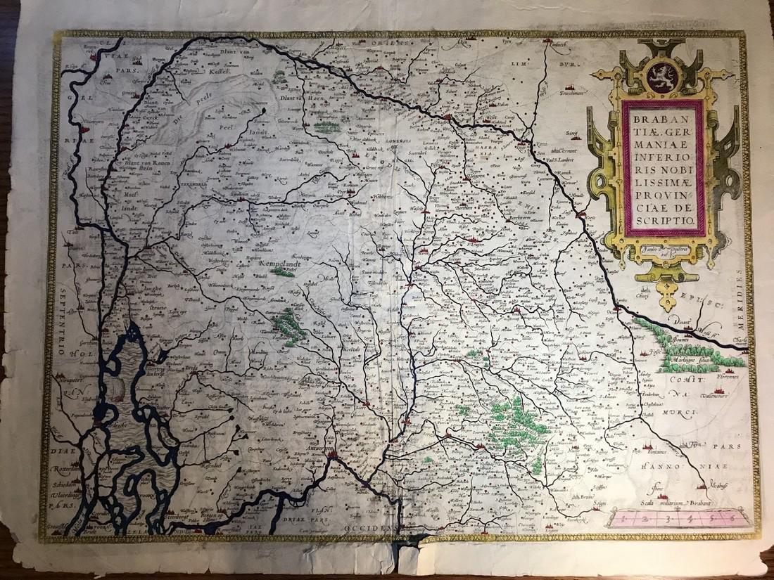 Ortelius Antique Map: Brabantiae Germaniae Inferioris