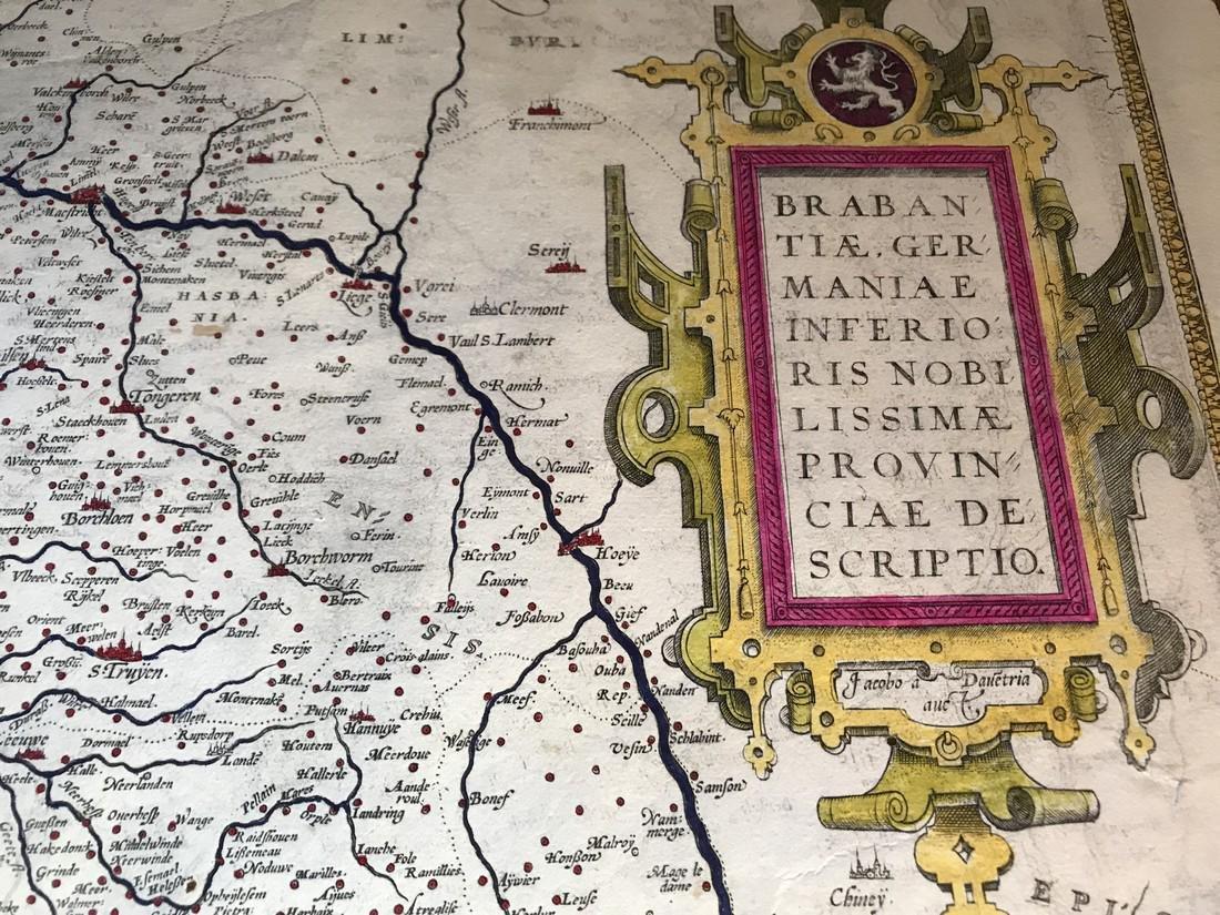 Ortelius Antique Map: Brabantiae Germaniae Inferioris - 2