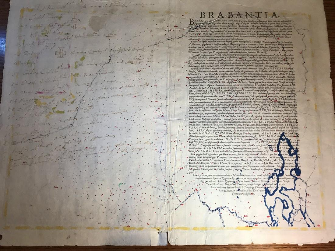 Ortelius Antique Map: Brabantiae Germaniae Inferioris - 3