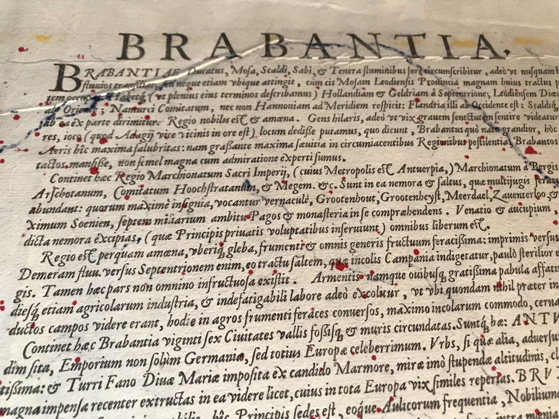Ortelius Antique Map: Brabantiae Germaniae Inferioris - 4