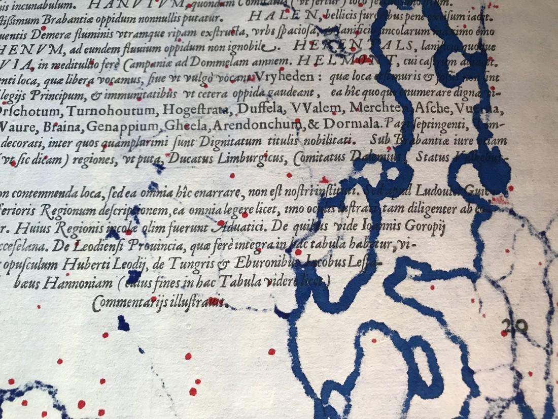 Ortelius Antique Map: Brabantiae Germaniae Inferioris - 5