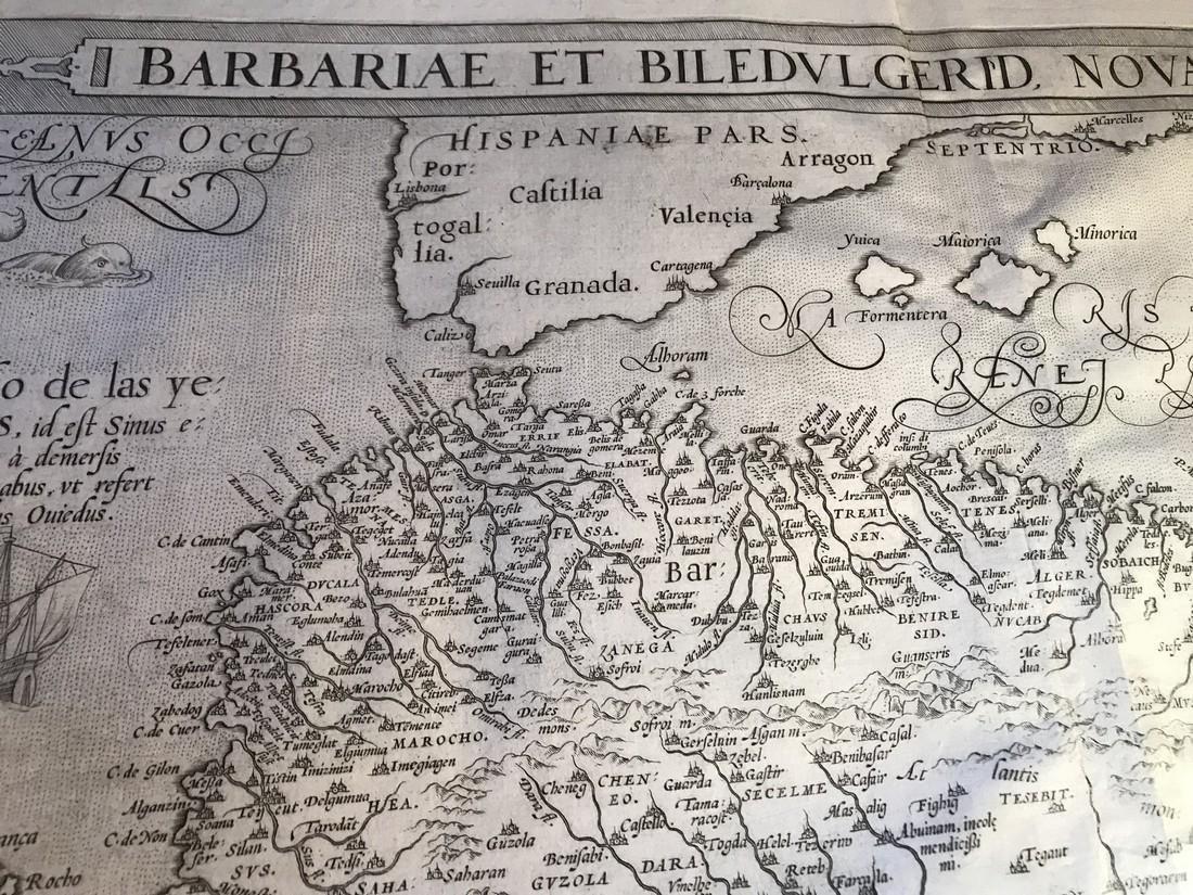 Ortelius Antique Map: Barbariae Et Biledulgerid Nova - 2