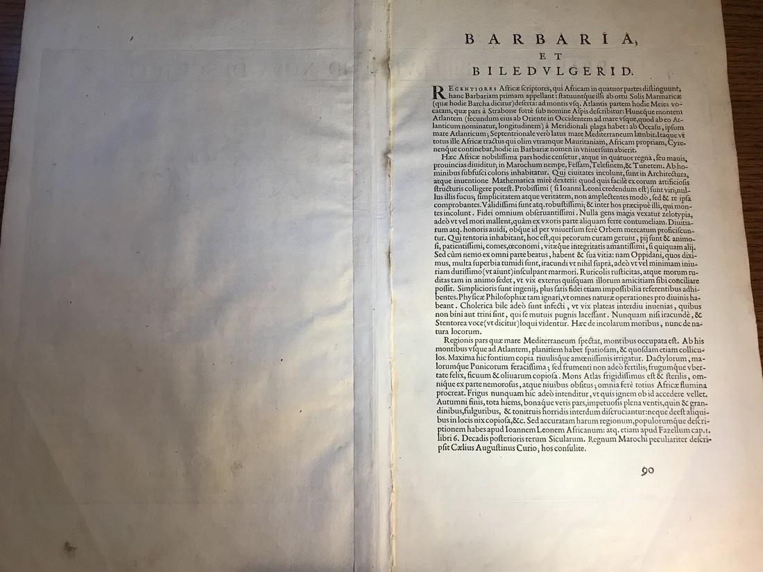Ortelius Antique Map: Barbariae Et Biledulgerid Nova - 3