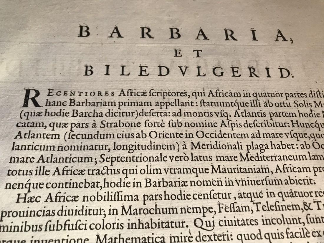 Ortelius Antique Map: Barbariae Et Biledulgerid Nova - 4