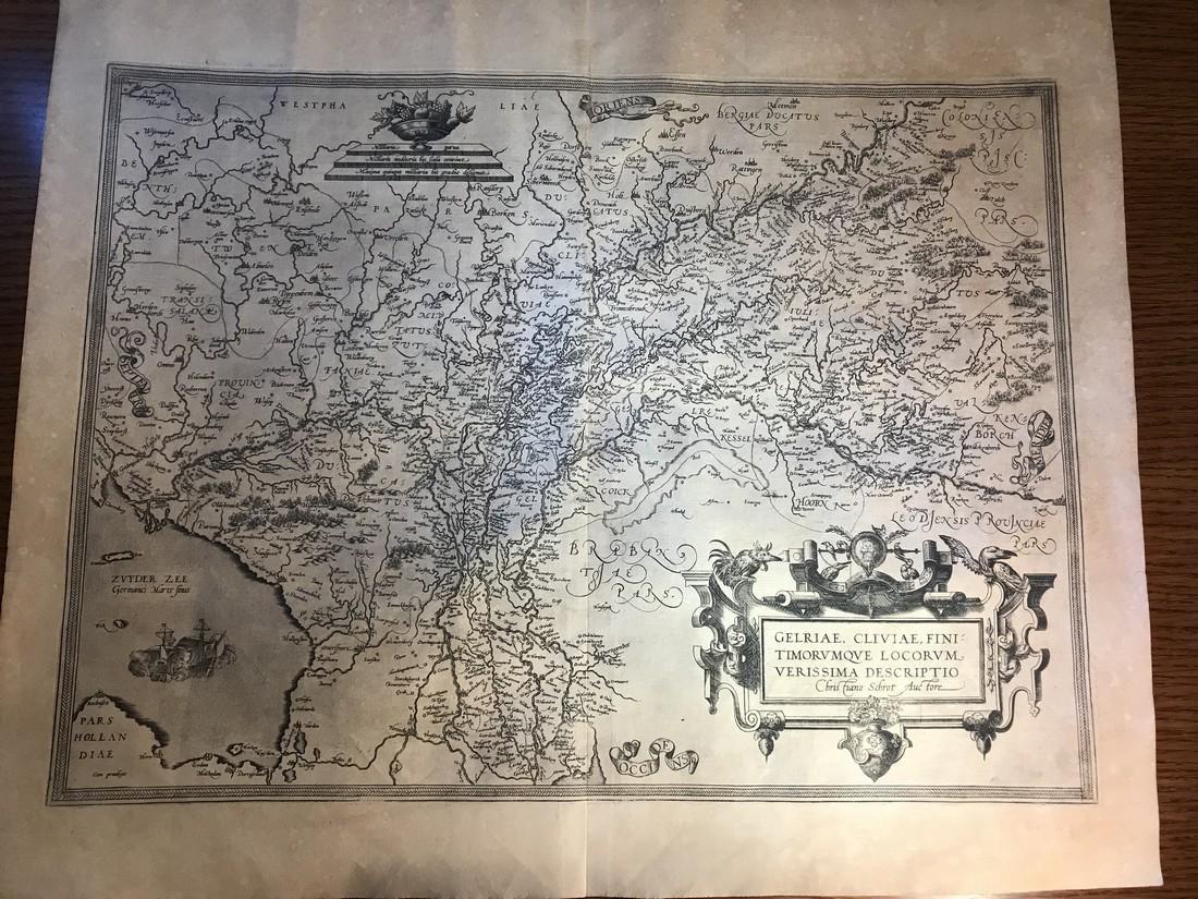 Ortelius Antique Map: Gelriae, Cliviae, Finitimorumque