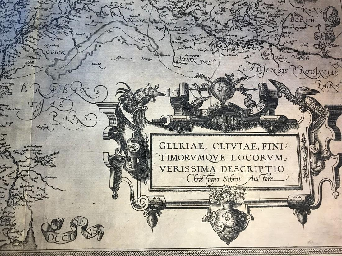 Ortelius Antique Map: Gelriae, Cliviae, Finitimorumque - 2