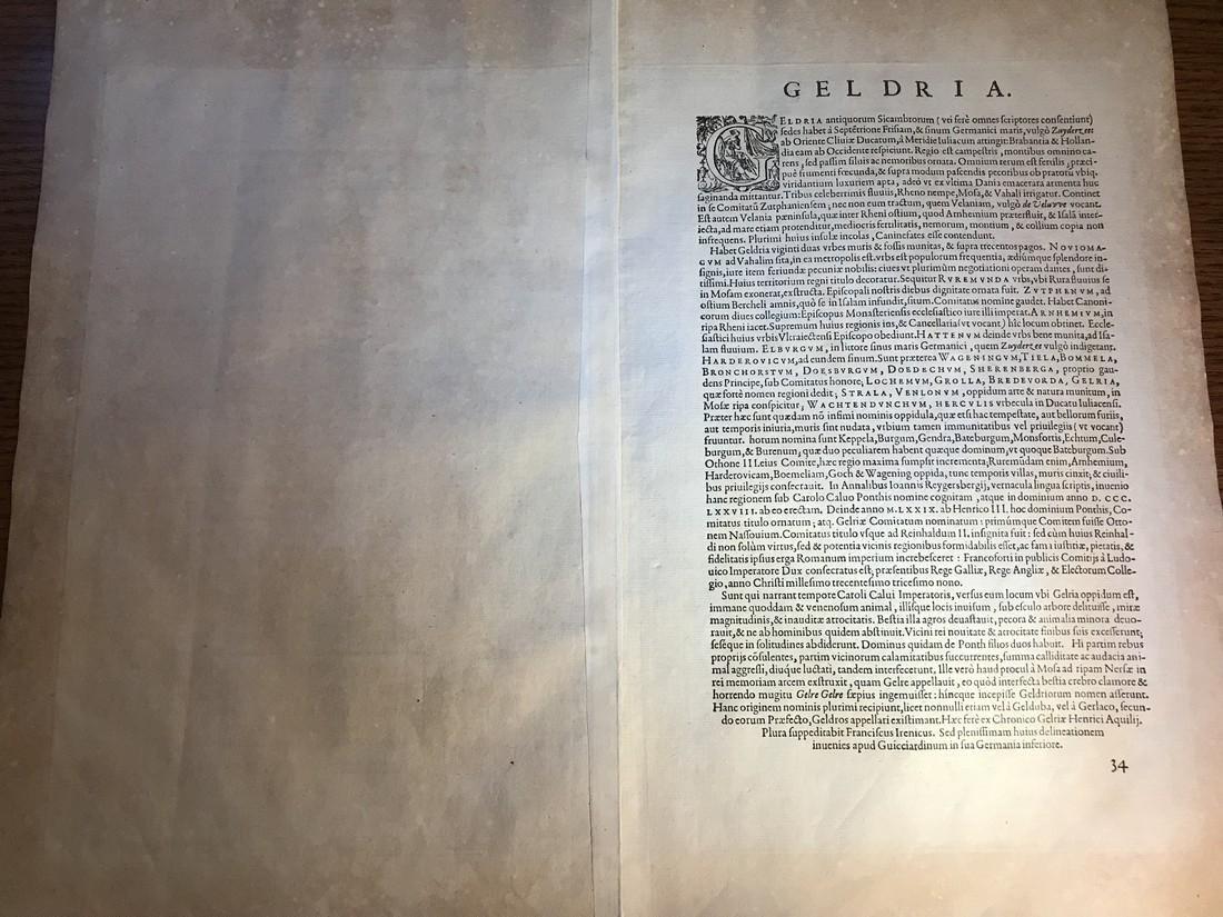 Ortelius Antique Map: Gelriae, Cliviae, Finitimorumque - 3
