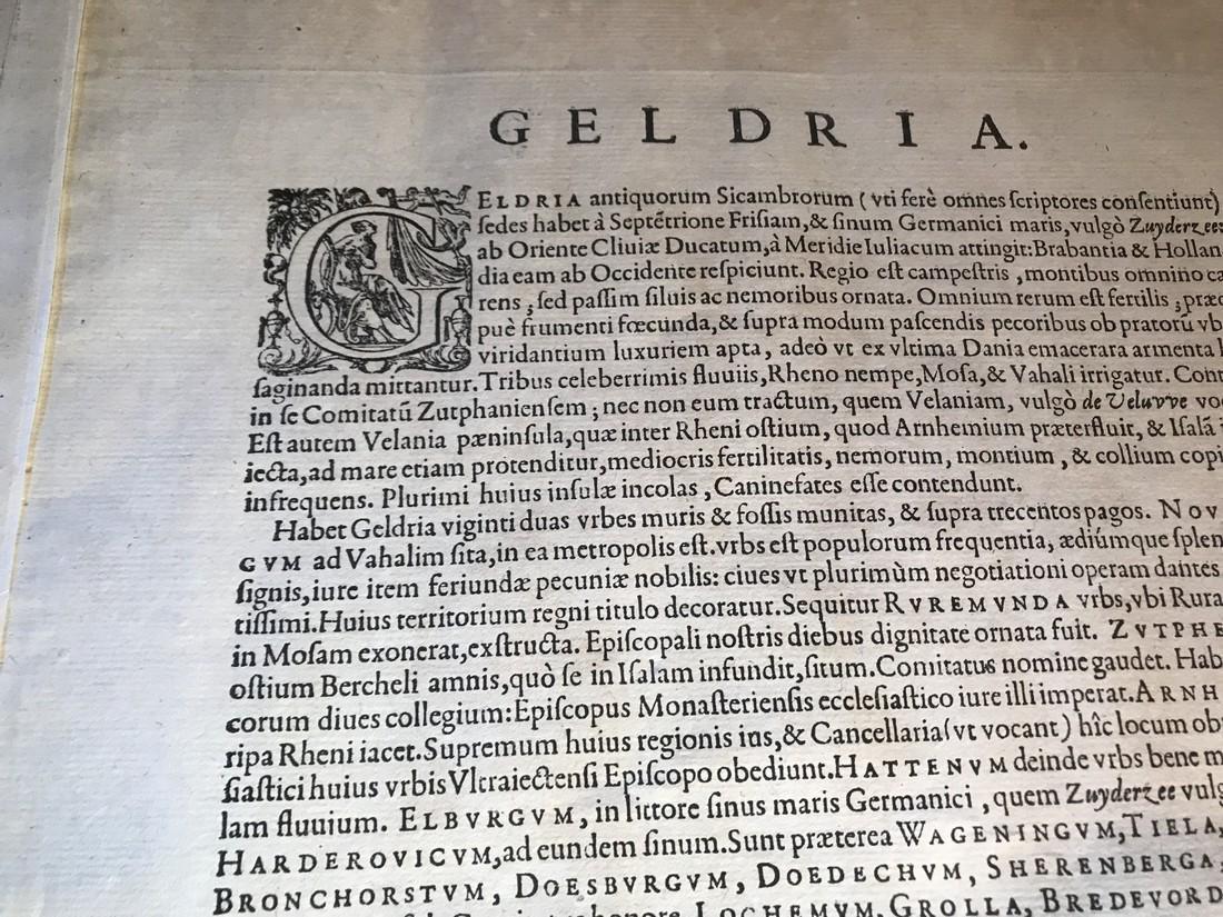 Ortelius Antique Map: Gelriae, Cliviae, Finitimorumque - 4