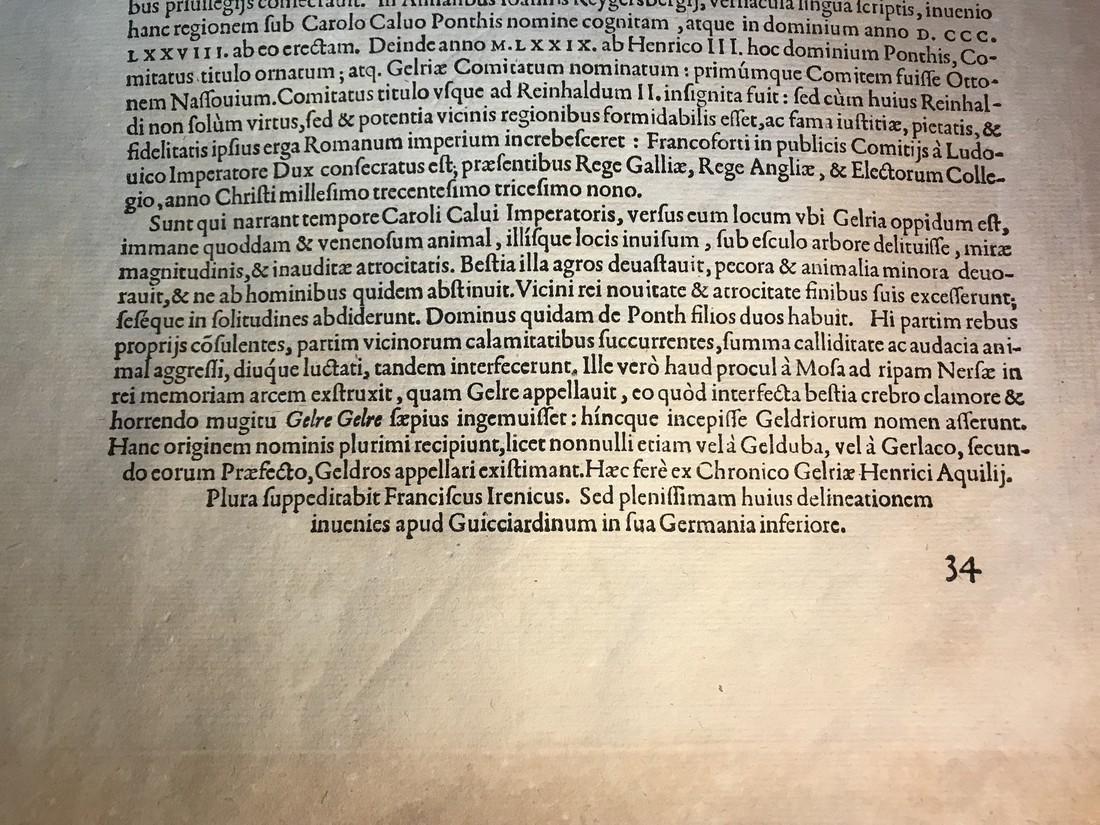 Ortelius Antique Map: Gelriae, Cliviae, Finitimorumque - 5