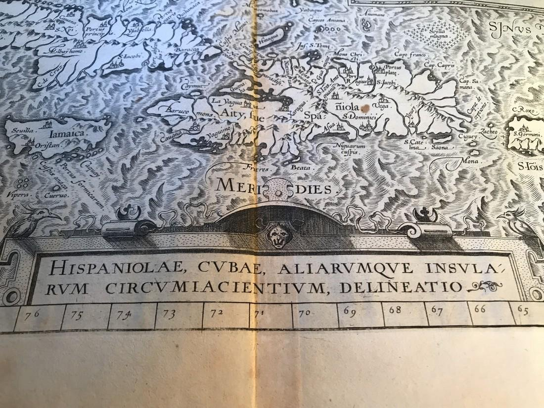 Ortelius Antique Map: Culiacanae, Hispaniolae, Cubae, - 2