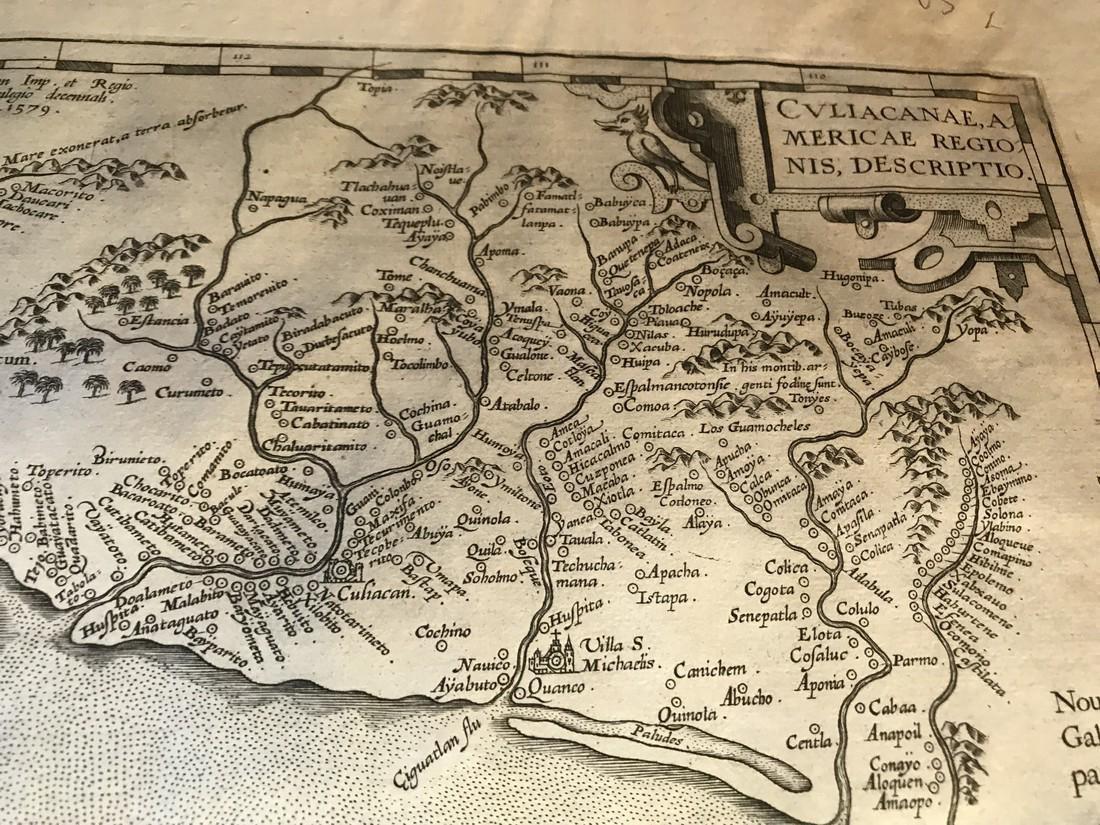 Ortelius Antique Map: Culiacanae, Hispaniolae, Cubae, - 3
