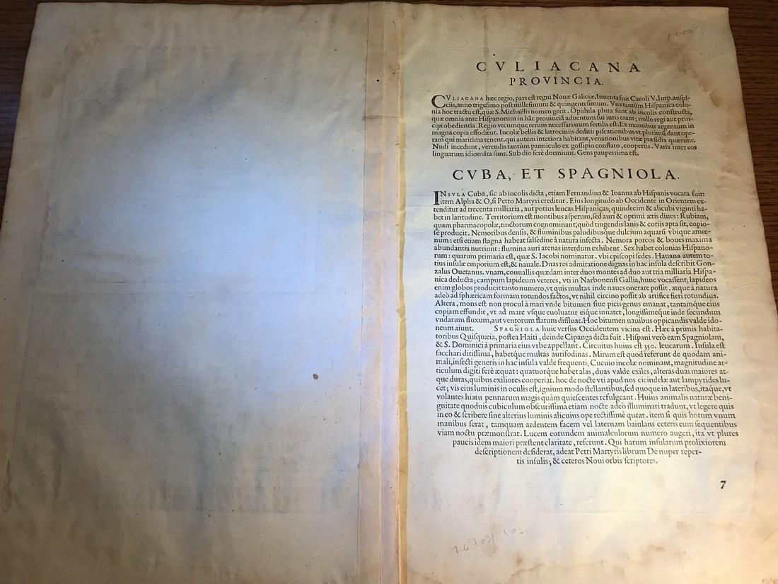 Ortelius Antique Map: Culiacanae, Hispaniolae, Cubae, - 4