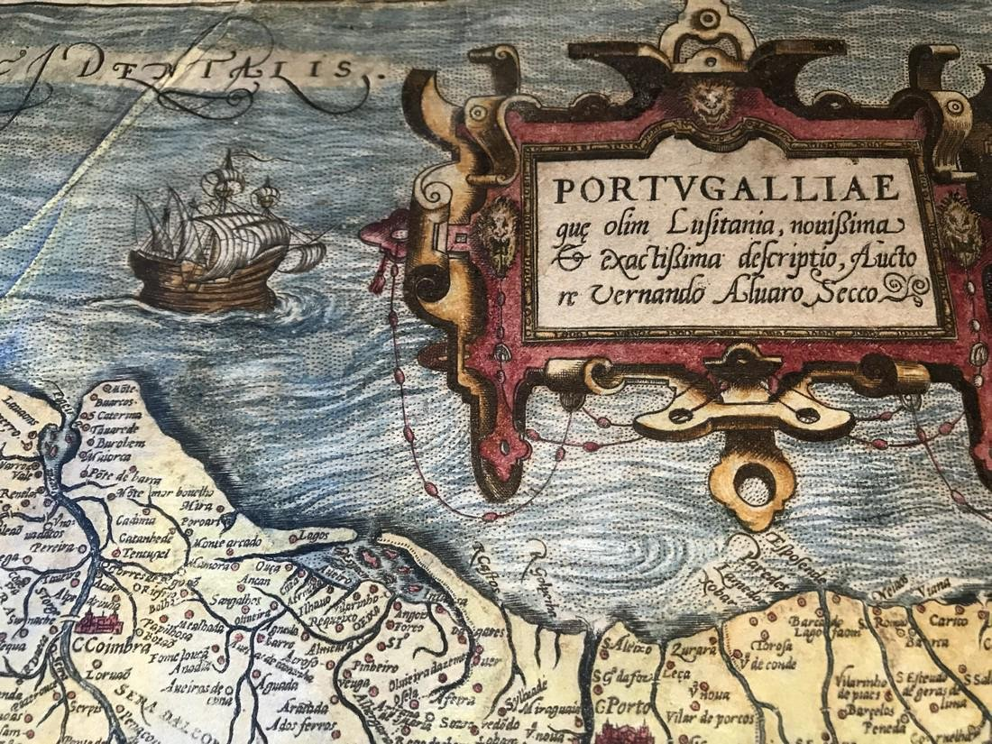 Ortelius Antique Map: Portugalliae - 2