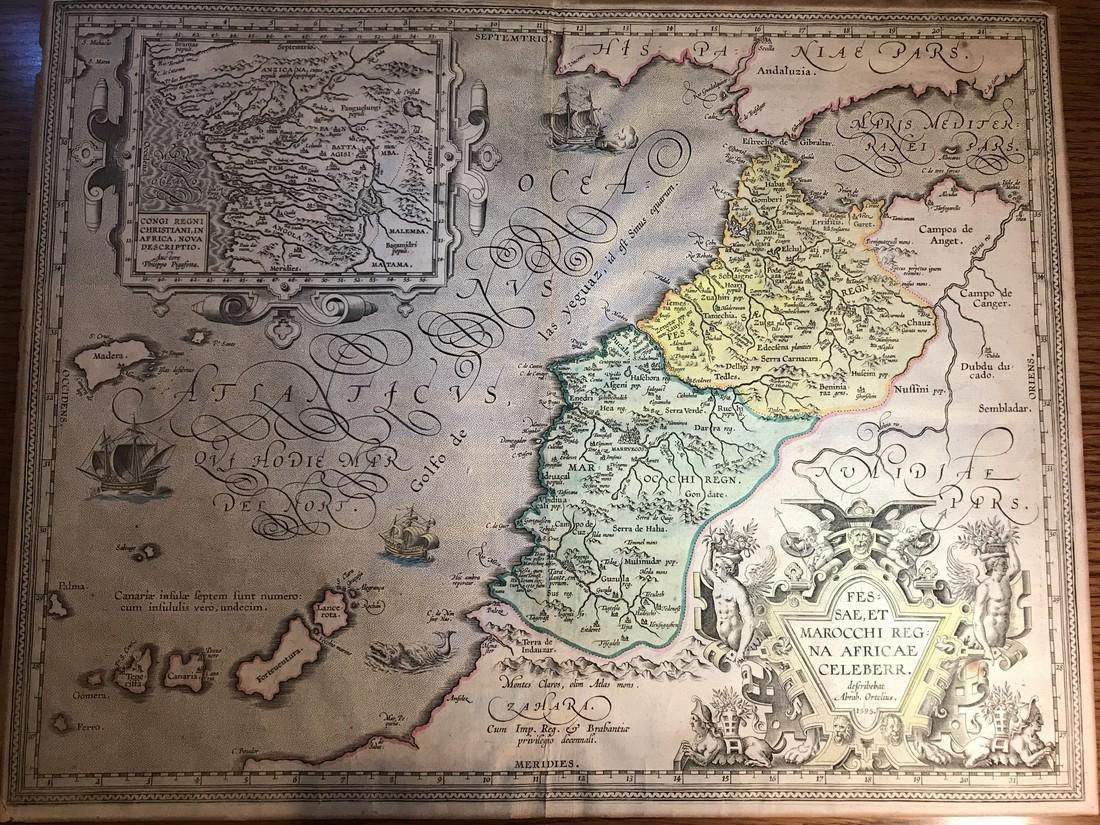 Ortelius Antique Map: Fessae Et  Marocchi Regna Africae
