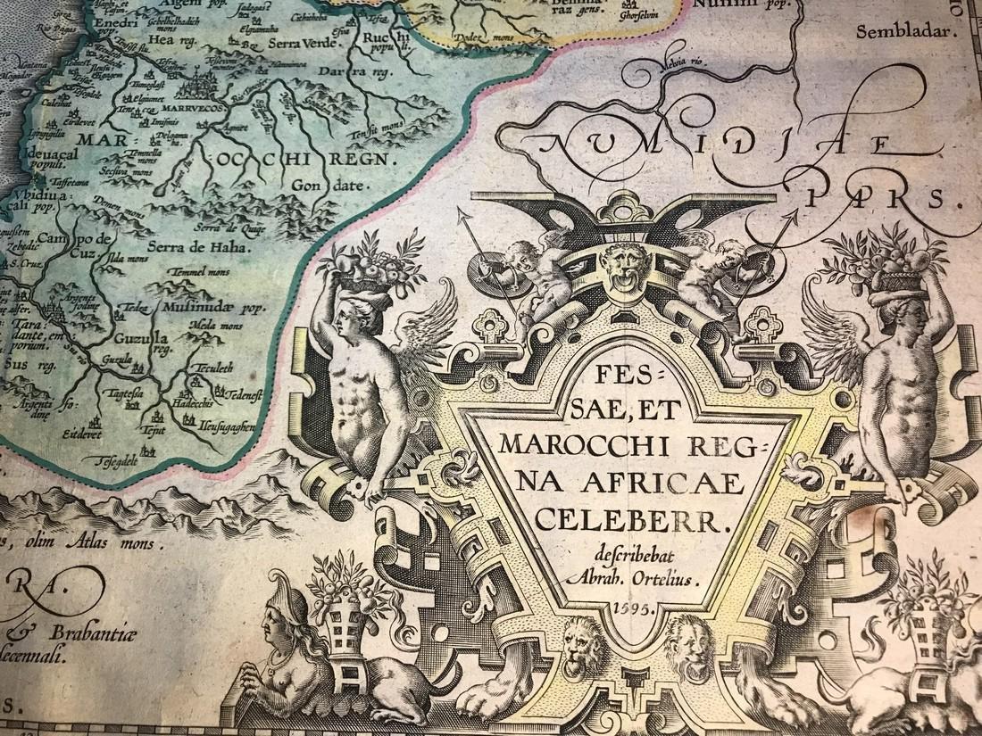 Ortelius Antique Map: Fessae Et  Marocchi Regna Africae - 2
