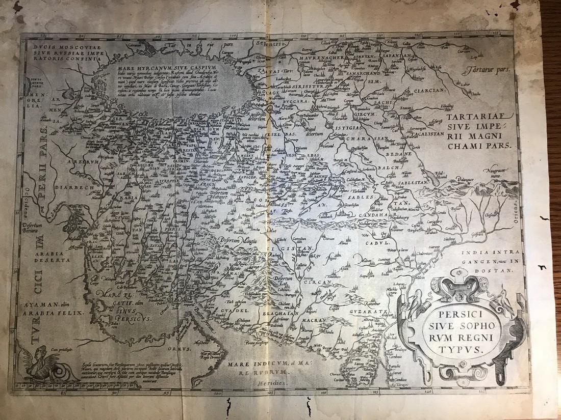Ortelius Antique Map: Persici Sive Sophorum Regni Typus