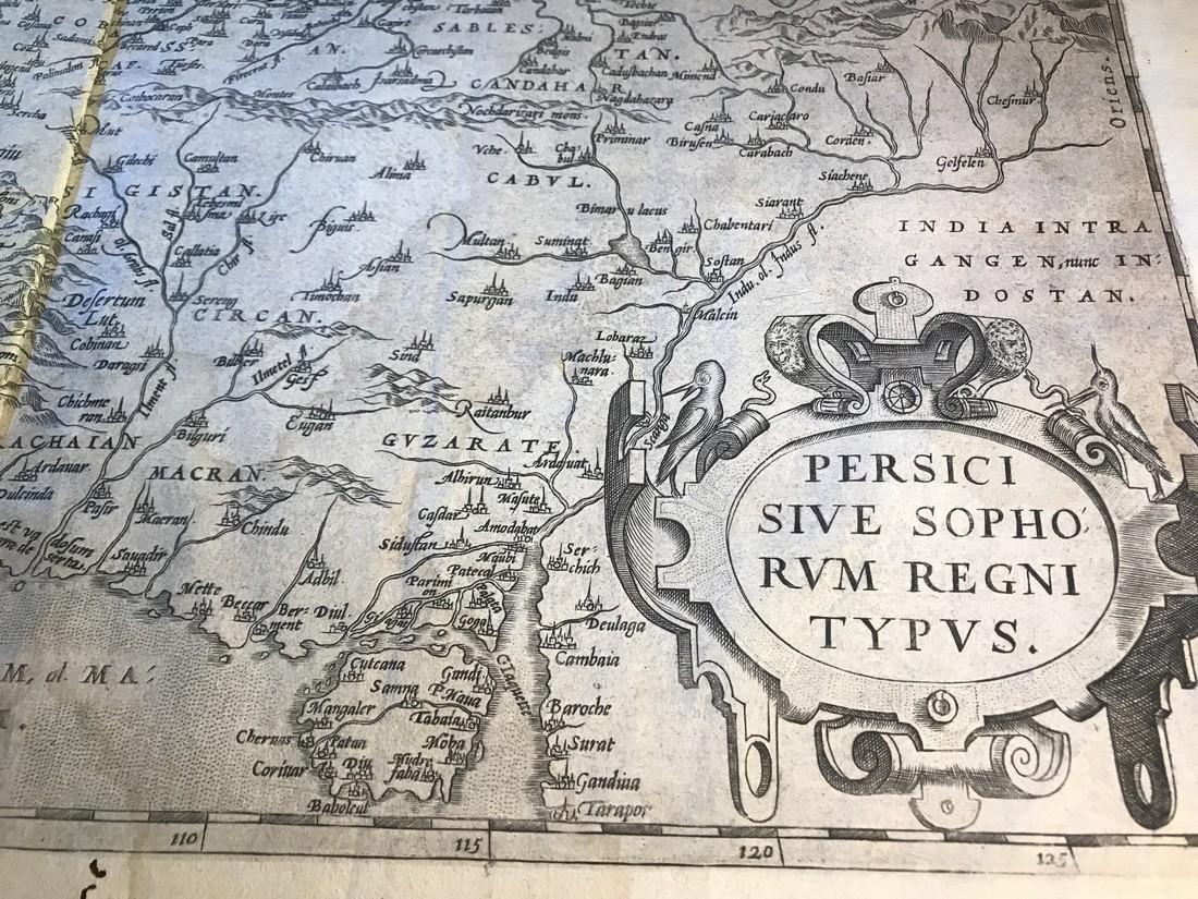 Ortelius Antique Map: Persici Sive Sophorum Regni Typus - 2