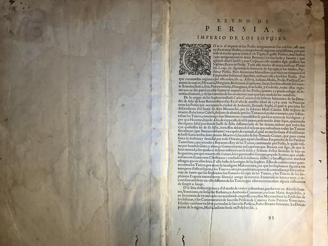 Ortelius Antique Map: Persici Sive Sophorum Regni Typus - 3