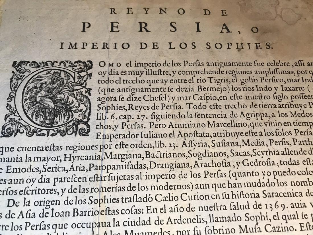 Ortelius Antique Map: Persici Sive Sophorum Regni Typus - 4