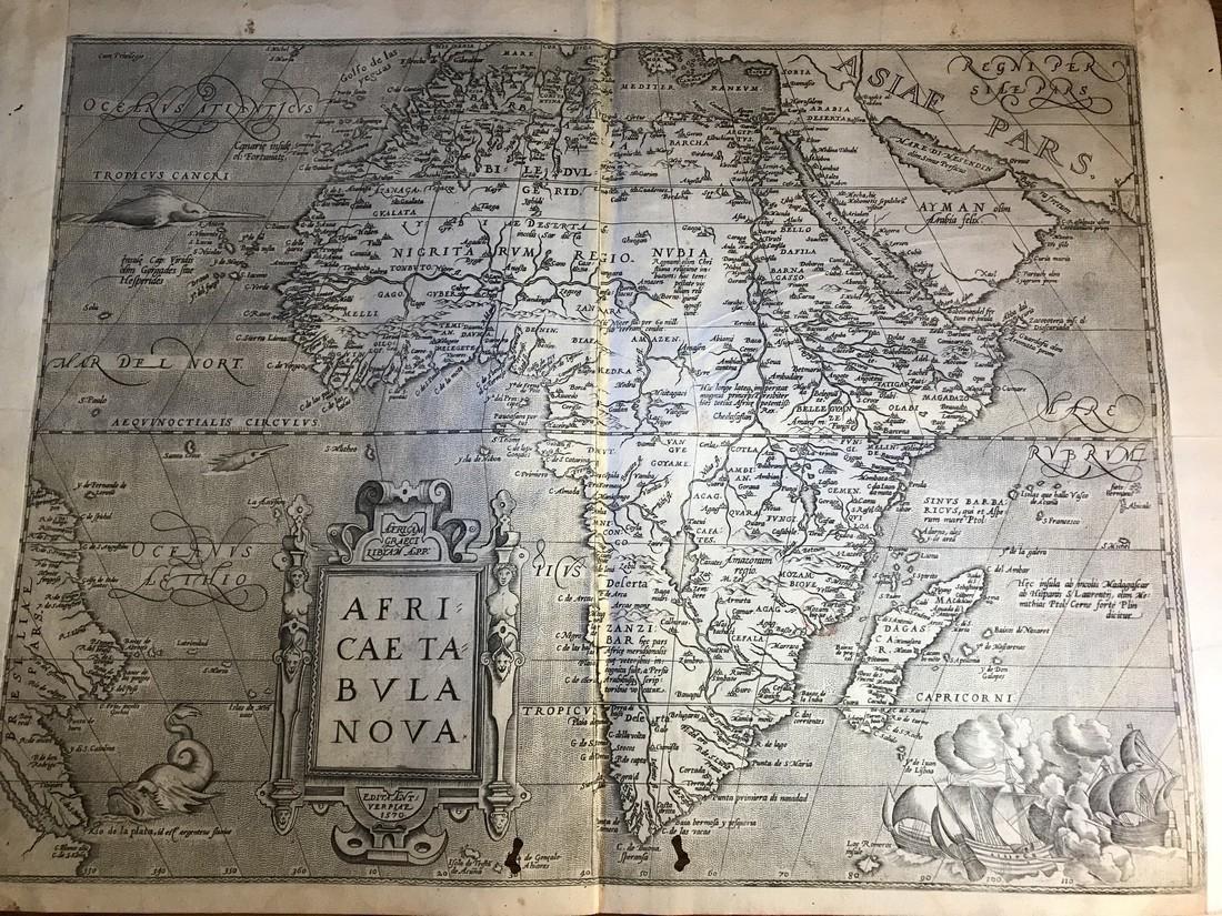 Ortelius Antique Map: Africae Tabula Nova