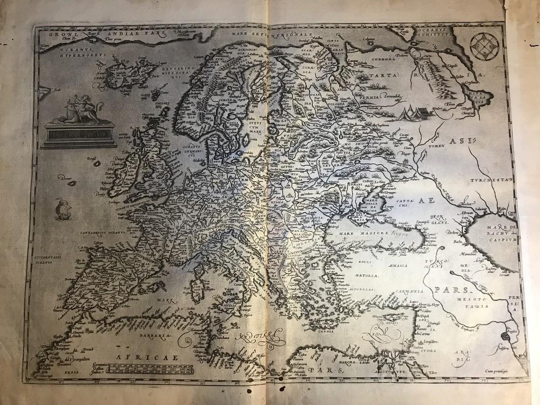 Ortelius Antique Map: Europae