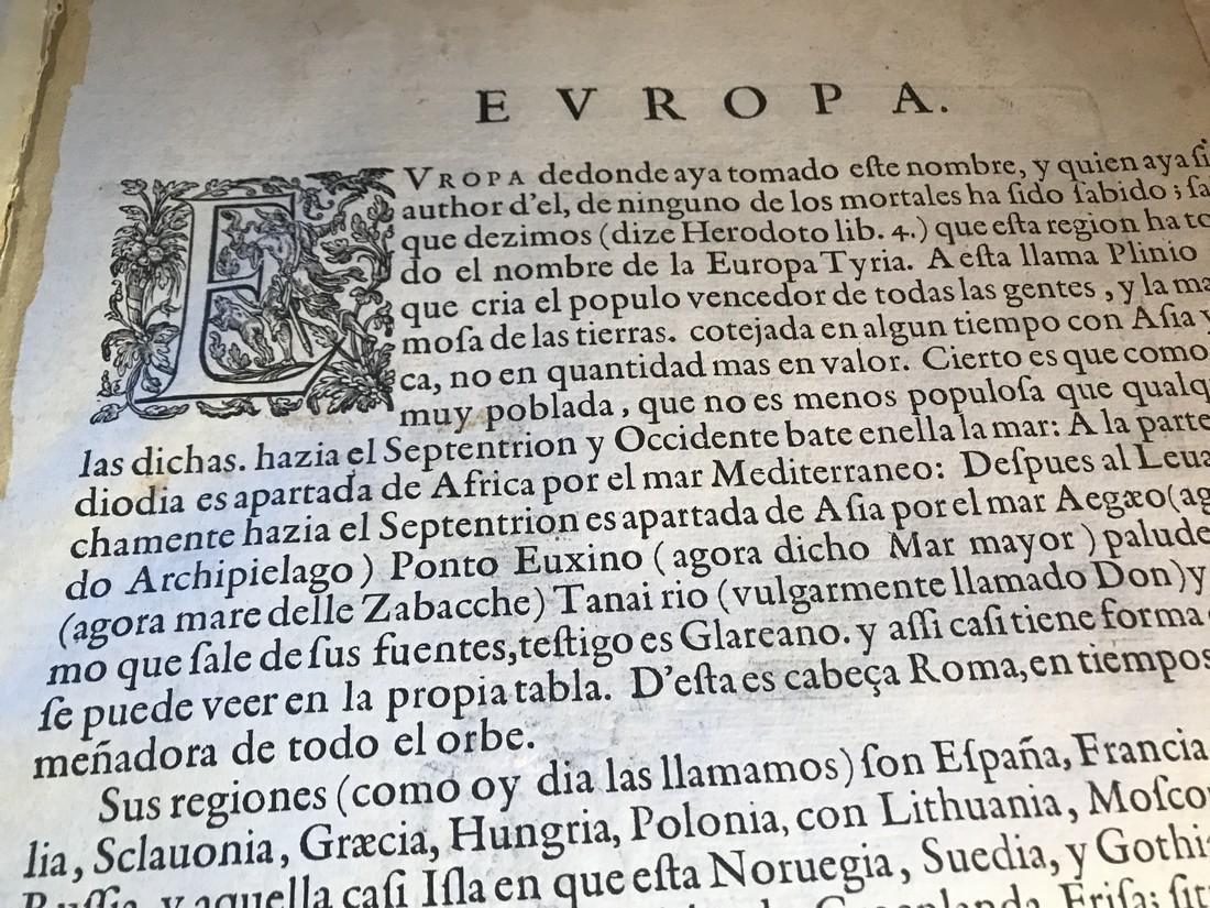 Ortelius Antique Map: Europae - 4
