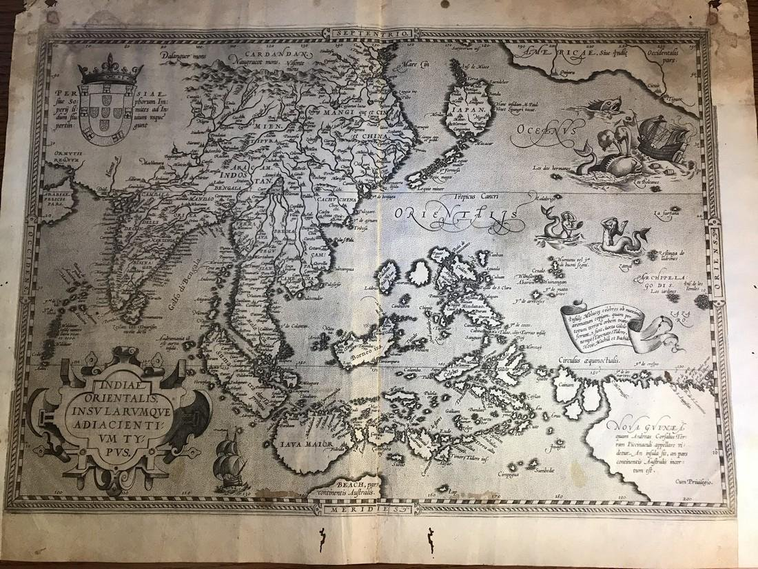 Ortelius Antique Map: Indiae Orientalis Insularum Que