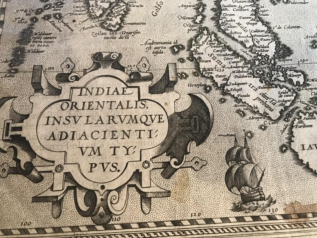 Ortelius Antique Map: Indiae Orientalis Insularum Que - 2