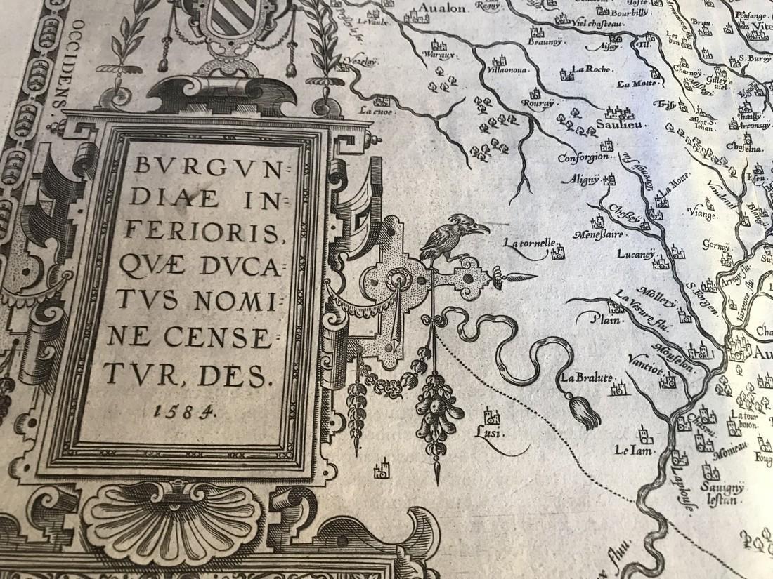 Ortelius Antique Map: Burgundiae Inferioris Que - 2