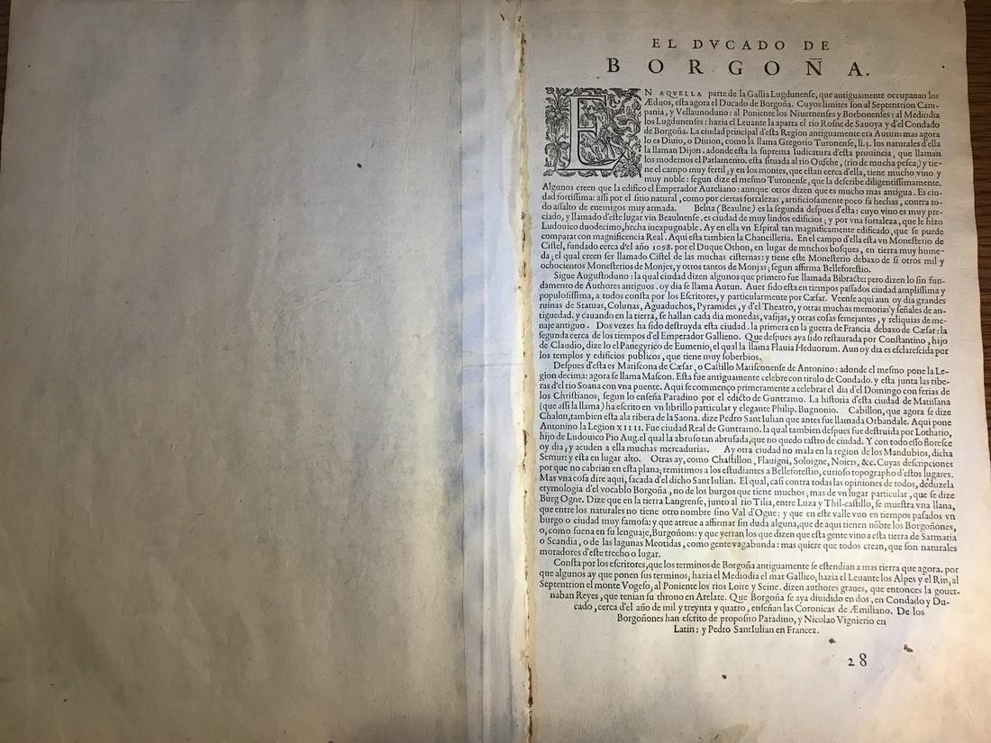 Ortelius Antique Map: Burgundiae Inferioris Que - 3