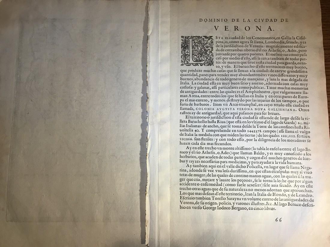 Ortelius Antique Map: Veronae Urbis Territorium - 3