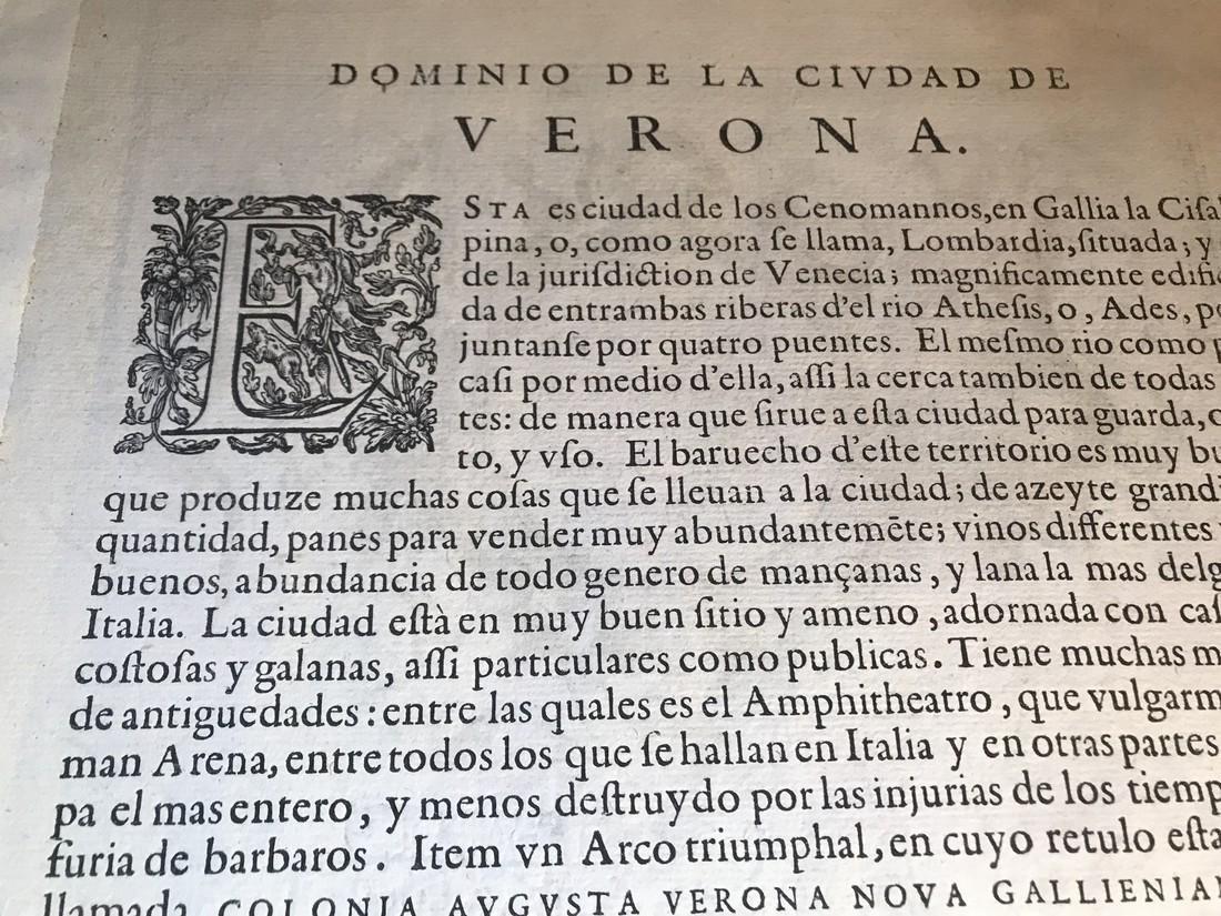 Ortelius Antique Map: Veronae Urbis Territorium - 4