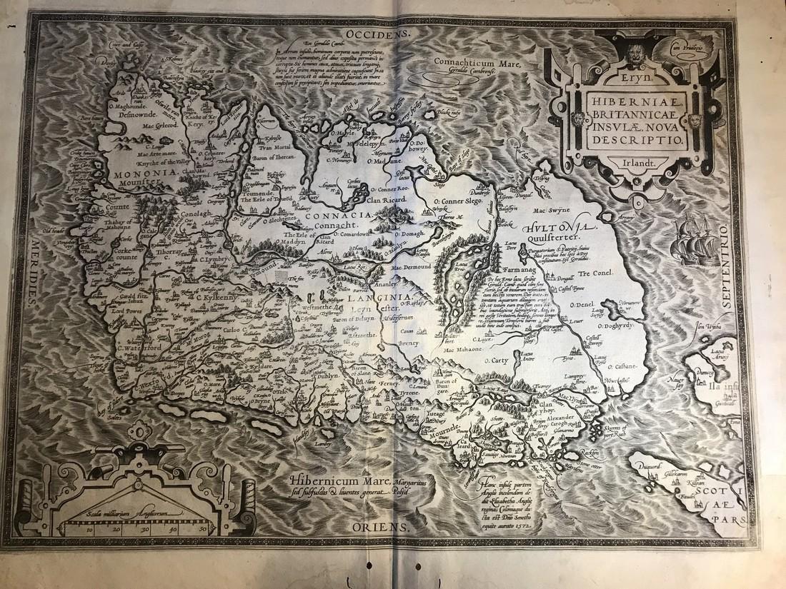 Ortelius Antique Map: Hiberniae Brittannicae Insulae