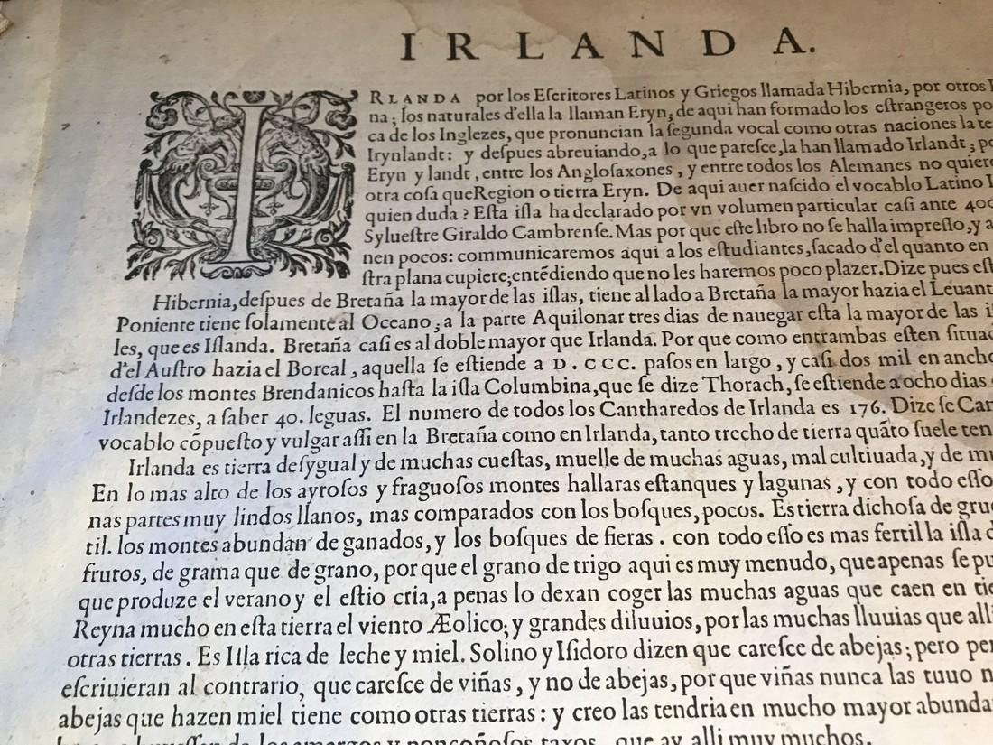 Ortelius Antique Map: Hiberniae Brittannicae Insulae - 4