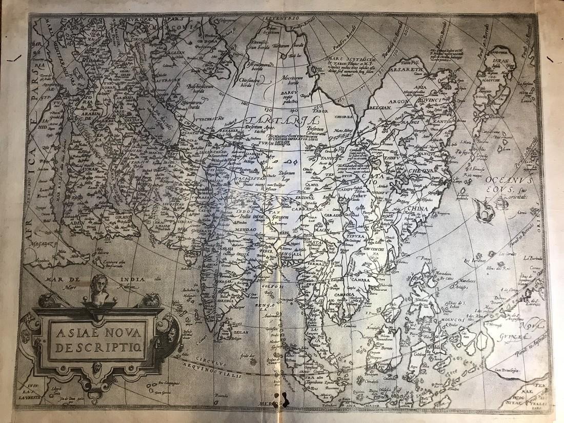 Ortelius Antique Map: Asiae Nova Descriptio