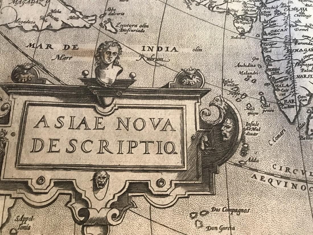 Ortelius Antique Map: Asiae Nova Descriptio - 2