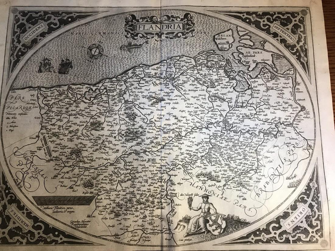 Ortelius Antique Map: Flandria