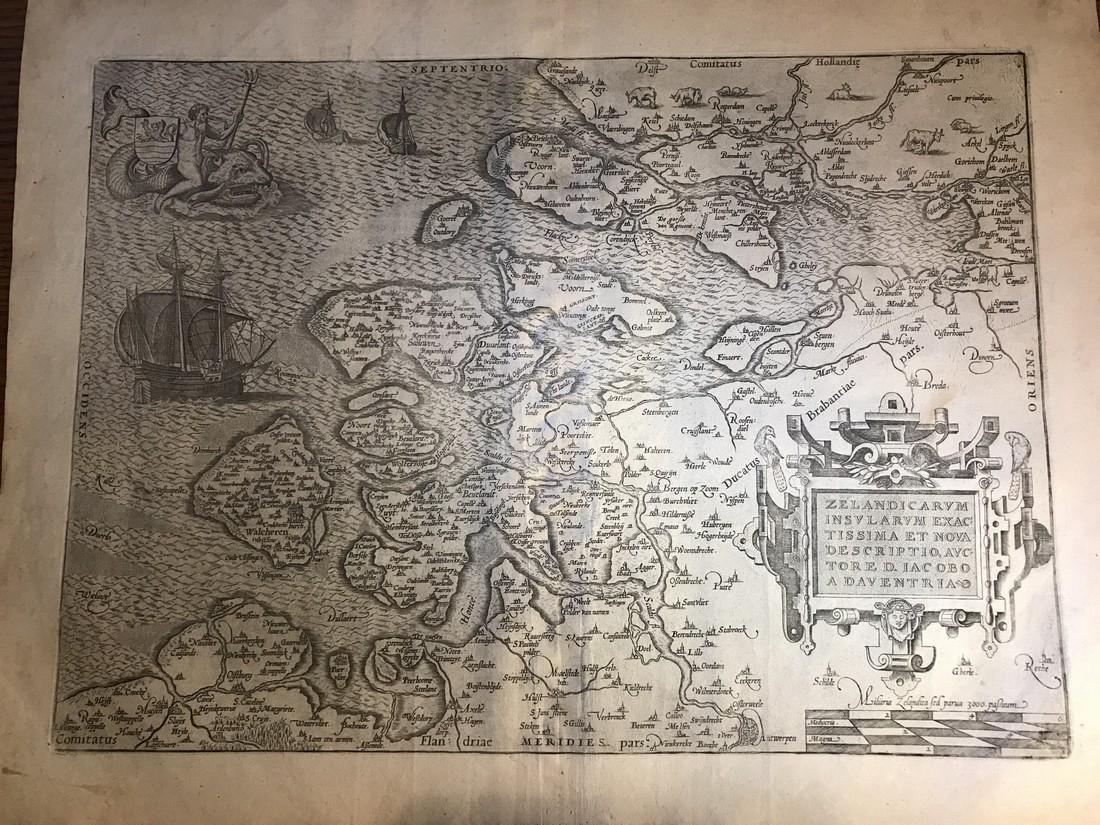 Ortelius Antique Map: Zelandicarum Insularum