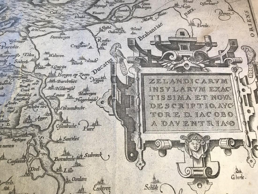Ortelius Antique Map: Zelandicarum Insularum - 2