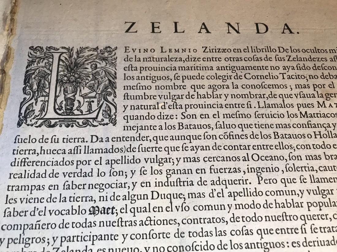 Ortelius Antique Map: Zelandicarum Insularum - 3
