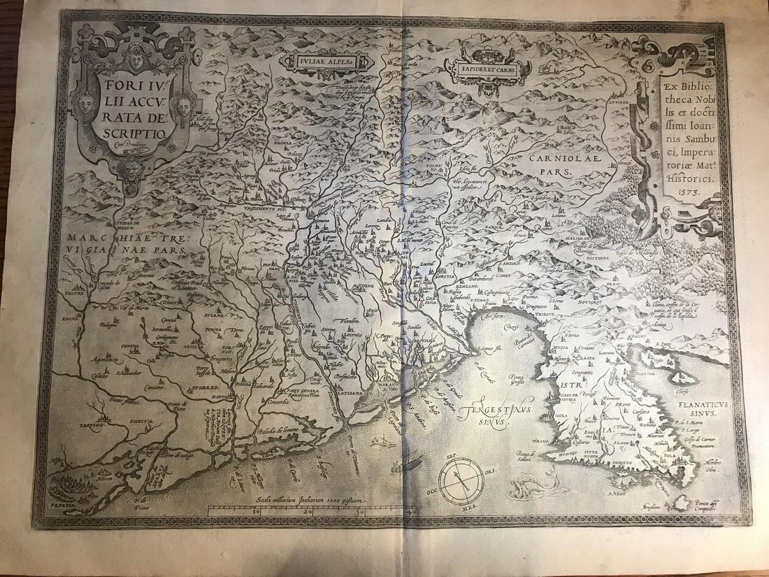 Ortelius Antique Map: Fori Iulii Accurata Descriptio