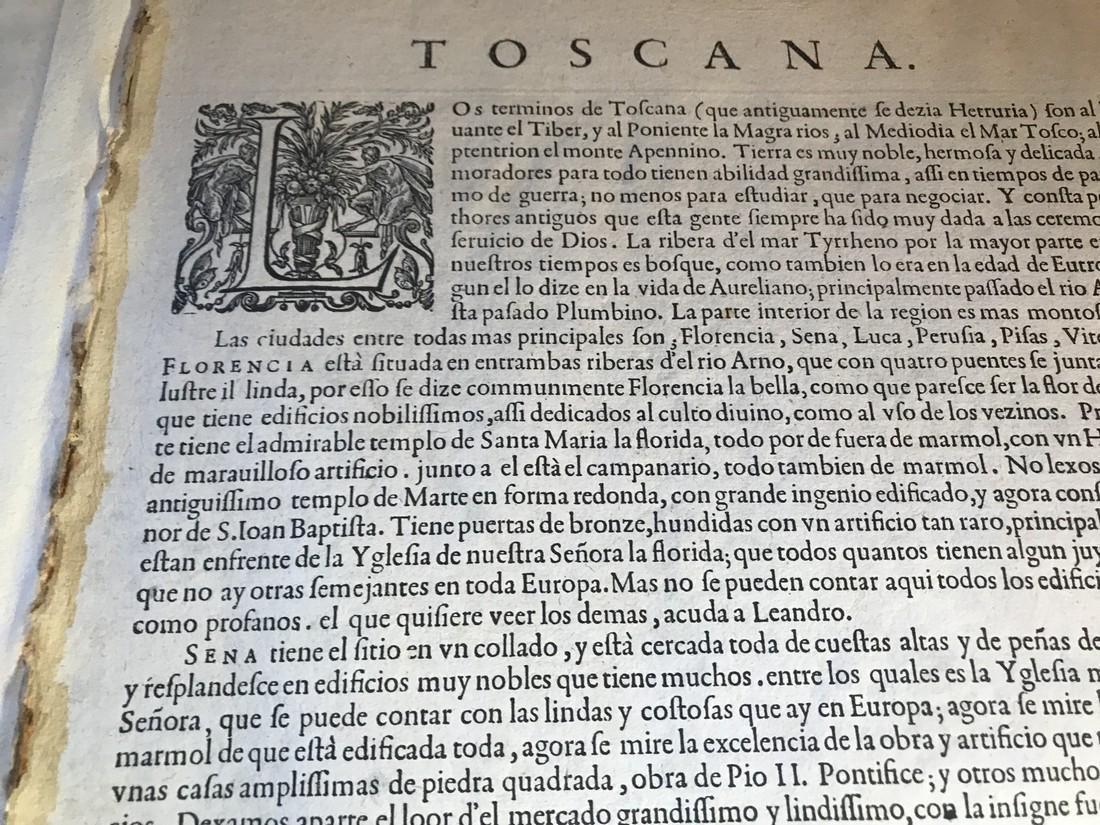 Ortelius Antique Map: Thusciae - 3