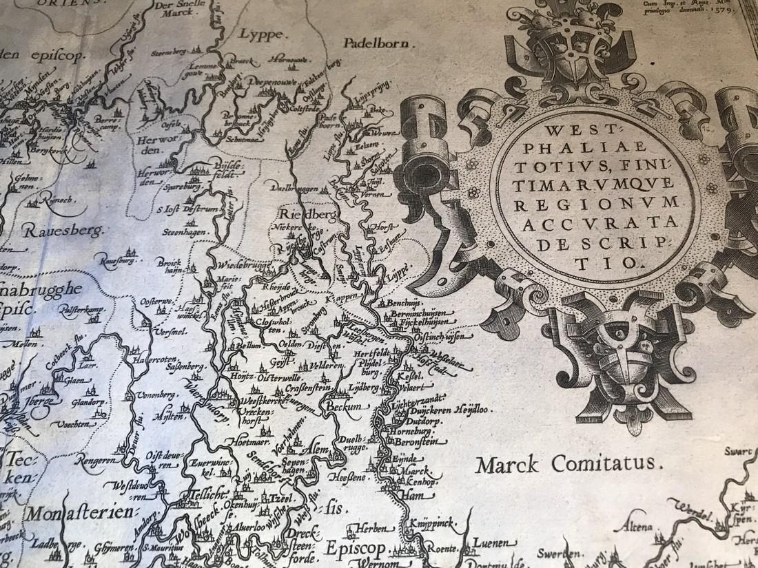 Ortelius Antique Map: Westphaliae Totius Finitimarumque - 2