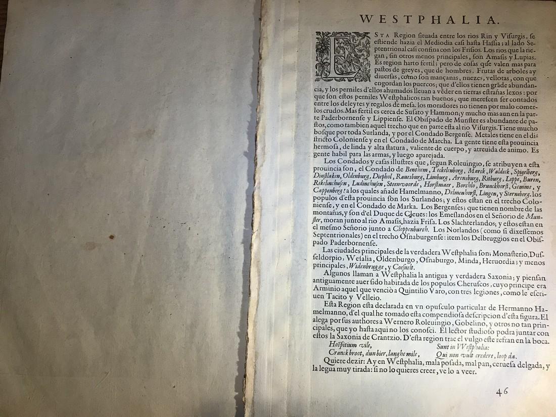 Ortelius Antique Map: Westphaliae Totius Finitimarumque - 3