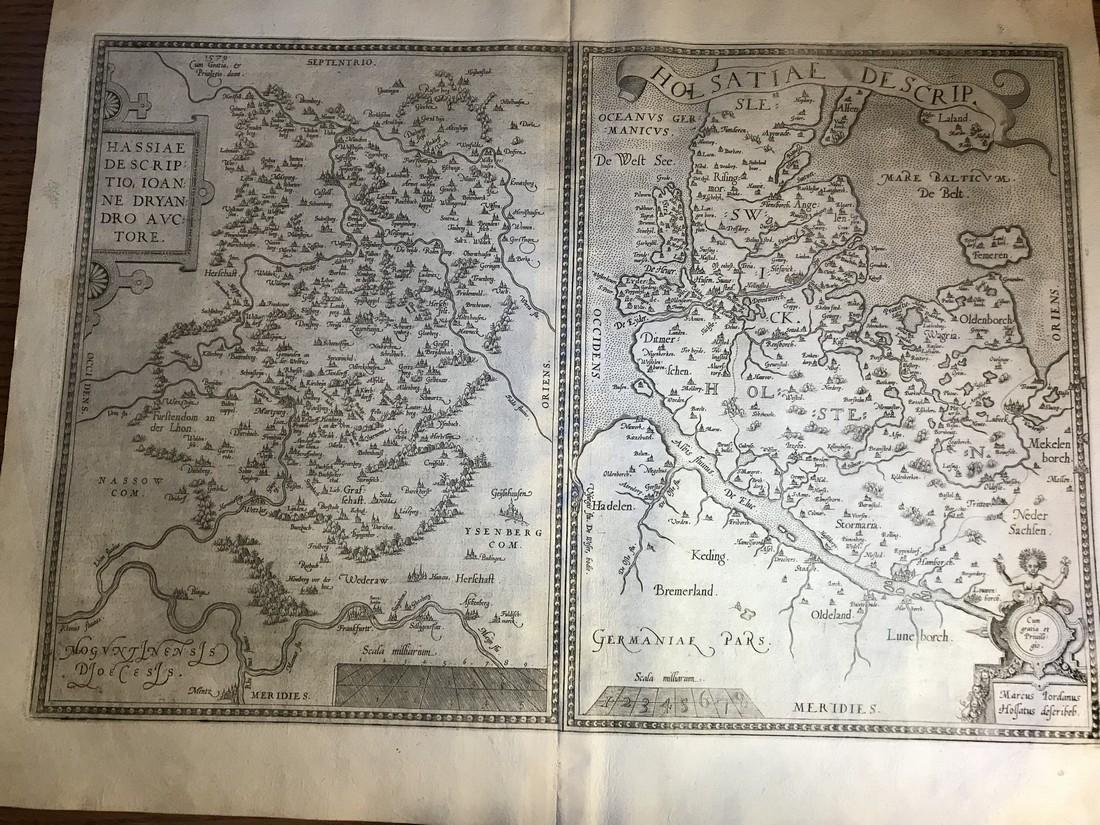 Ortelius Antique Map: Hassiae Descriptio Ioanne