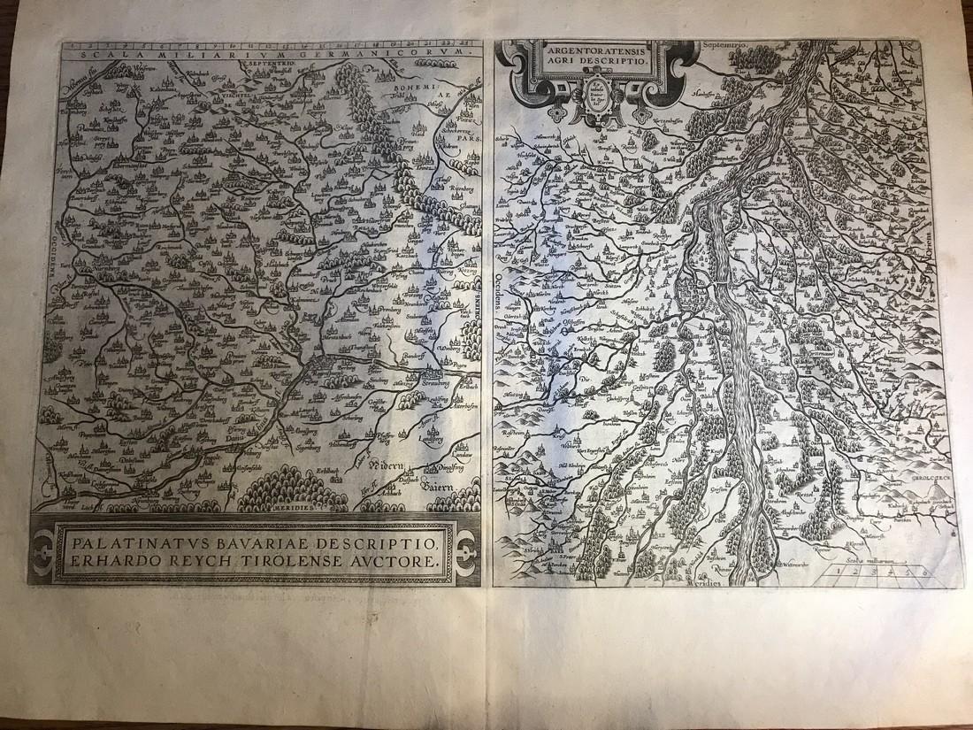 Ortelius Antique Map: Palatinatus Bavariae Descriptio,