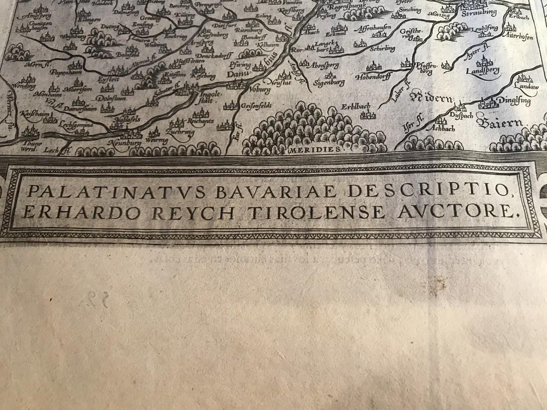 Ortelius Antique Map: Palatinatus Bavariae Descriptio, - 2